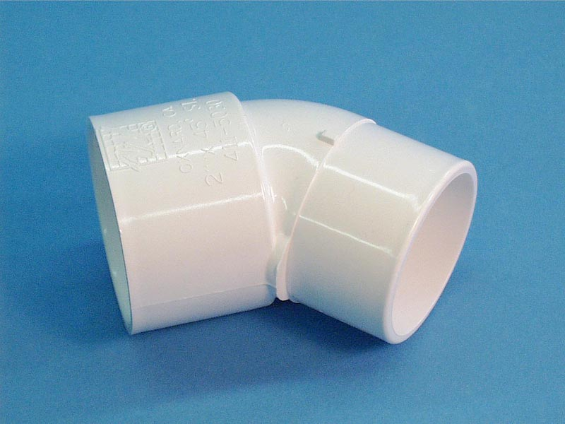 411-5030 - Fittings PVC,45 Degree Street Ell,WATERW,2 Inch S x 2 Inch Spg - 411-5030