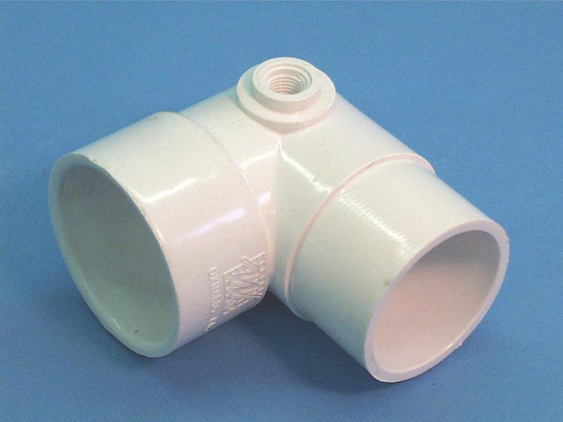 411-5050 - Fittings PVC,90 Degree Street Ell,WATERW,2 Inch Sx2 Inch Spgx3/8 Inch FPT - 411-5050