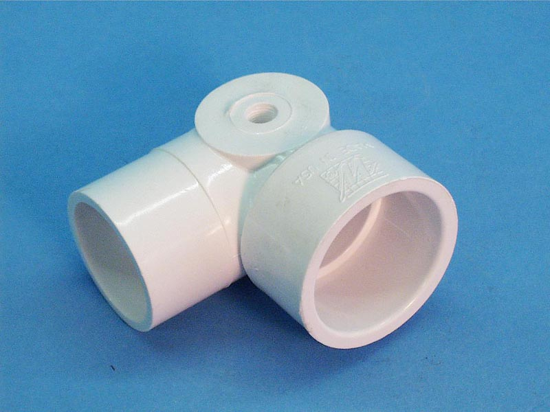 411-5060 - Fittings PVC,90 Street Ell,WATERW,1-1/2 Inch Spgx1-1/2 Inch Sx1/8 Inch FPT - 411-5060