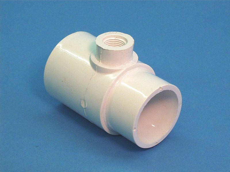 413-2140 - Fittings PVC,Tee,WATERW,2 Inch S x 2 Inch Spg x 1/2 Inch FPT - 413-2140