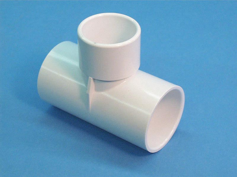 413-4000 - Fittings PVC,Tee,WATERW,1-1/2 Inch S x 1-1/2 Inch S x 1-1/2 Inch Spg - 413-4000