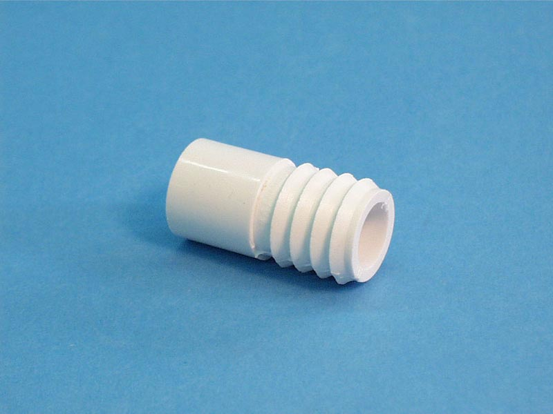 425-1000 - Fittings PVC,Barbed Adapter,WATERW,3/4 Inch RB x 1/2 Inch Spg - 425-1000
