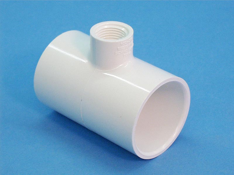 60-1011 - Fittings PVC,Tee,HUGHES,1-1/2 Inch S x 1/2 Inch FPT - 60-1011
