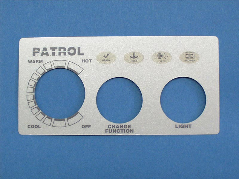 618-2 - Spa Side Overlay,PRESAIR,PATROL,2BTN,No Display - 618-2