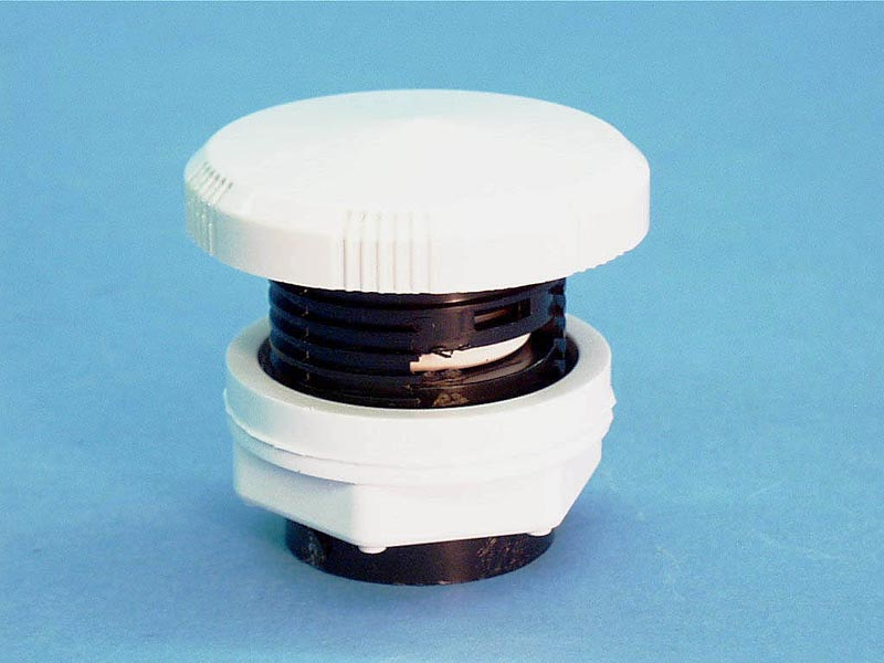 660-3000 - Air Control,WATERW,Deluxe,1 Inch Plumb,1-5/8 Inch Hole,White - 660-3000