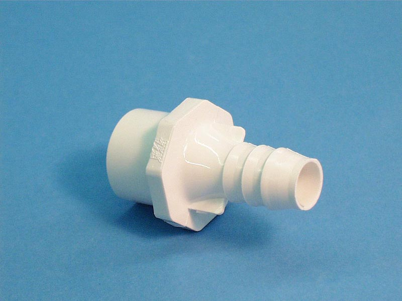 672-4310 - Fitting PVC,Barb,WATERW,1 Inch Spg / 3/4 Inch S x 3/4 Inch RB - 672-4310