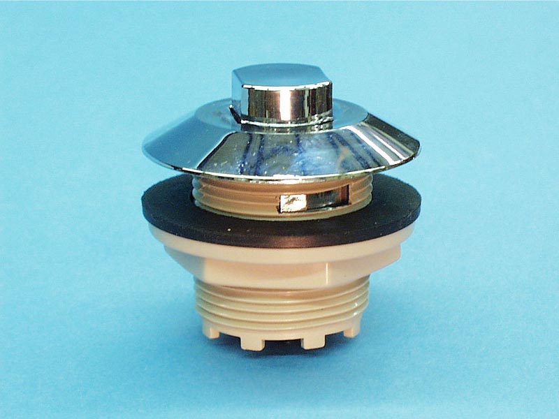 B225C - Air Button,PRESAIR,Contemp,1-3/4 Inch H,2-1/2 Inch F,1-3/4 Inch L,Chrome - B225C