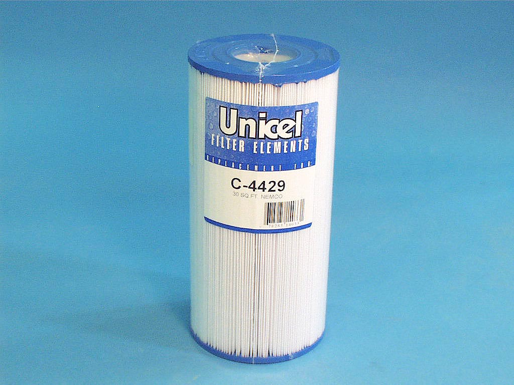 C-4429 - Filter Cartridge,UNICEL,30 Sq Ft,4-15/16 Inch OD x 10-3/8 Inch Long - C-4429 - Height: 10-3/8 - Diameter: 4-15/16 - TopID: 2-1/8 - BottomID: 2-1/8