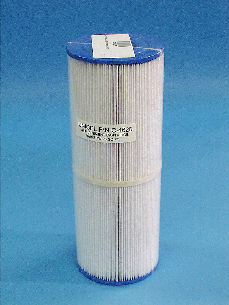 C-4625 - Filter Cartridge,UNICEL,25 Sq Ft,4-15/16 Inch OD x 13-5/16 Inch Long - C-4625 - Height: 13-5/16 - Diameter: 4-15/16 - TopID: 2-1/8 - BottomID: 2-1/8