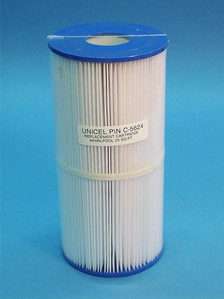 C-5624 - Filter Cartridge,UNICEL,25 Sq Ft,5-3/4 Inch OD x 11-7/8 Inch Long - C-5624 - Height: 11-7/8 - Diameter: 5-3/4 - TopID: 2-1/8 - BottomID: 2-1/8