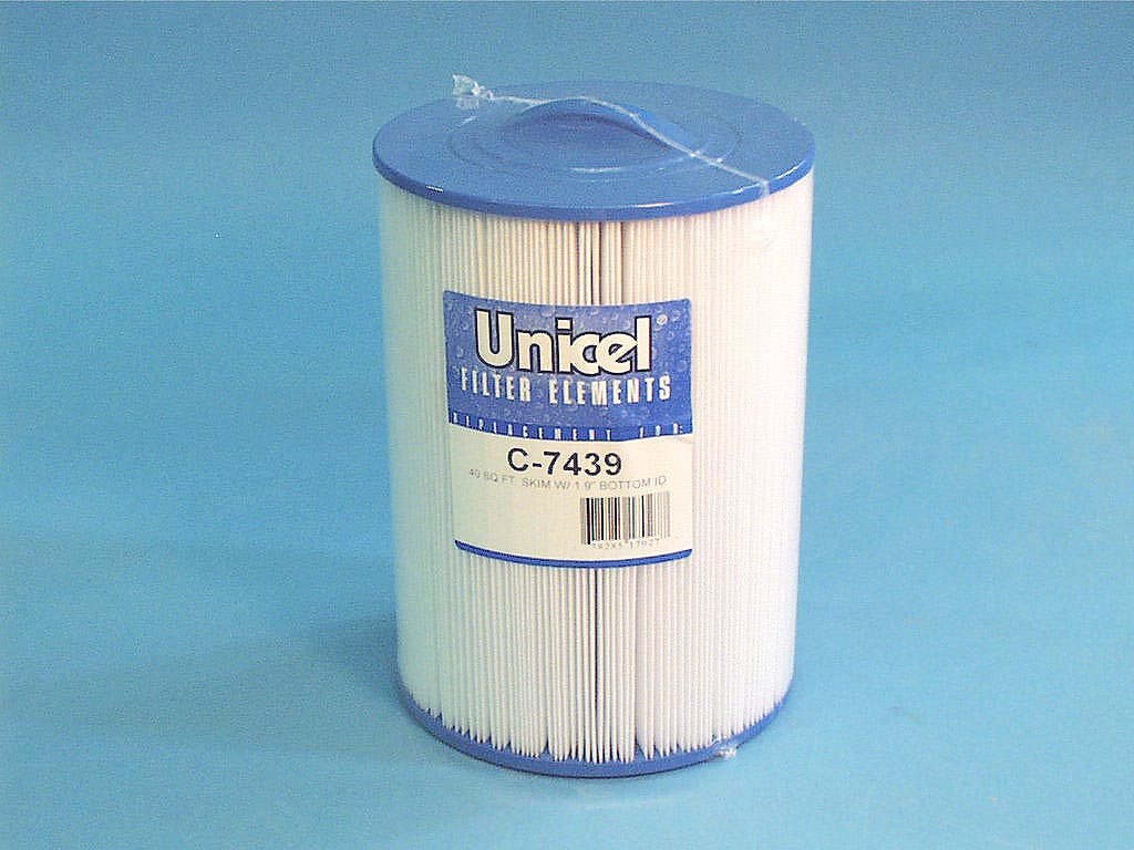 C-7439 - Filter Cartridge,UNICEL,40 Sq Ft,7 Inch OD x 9-3/4 Inch Long - C-7439 - Height: 9-3/4 - Diameter: 7 - TopID: Cone - BottomID: 1-15/16