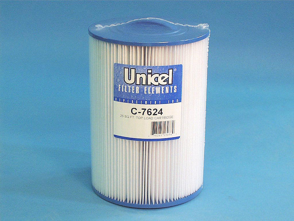 C-7624 - Filter Cartridge,UNICEL,25 Sq Ft,7 Inch OD x 9-13/16 Inch Long - C-7624 - Height: 9-13/16 - Diameter: 7 - TopID: Handle - BottomID: 2-1/16