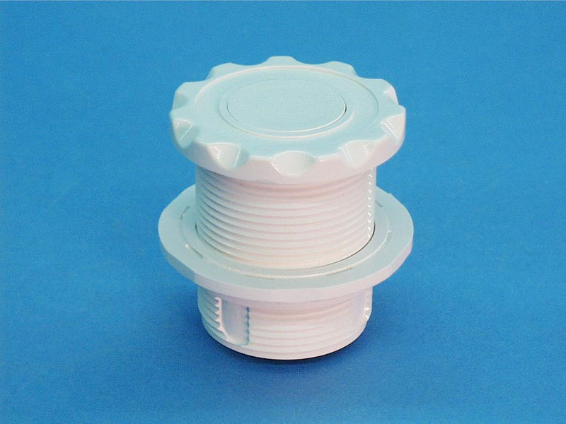 LG10WS - Air Button, 10, White, Scalloped, 1-3/4 Inch H, 2-1/4 Inch F, 2 Inch L - LG10WS