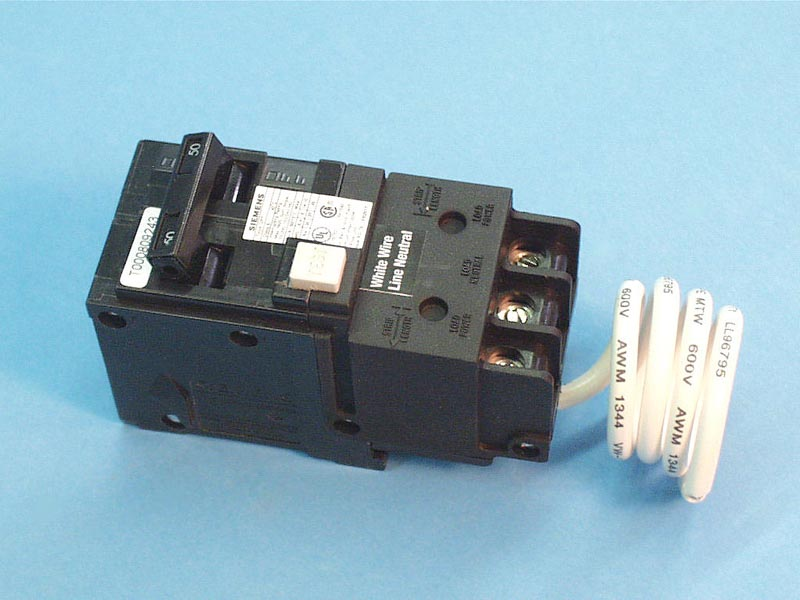 QF250 - GFCI Breaker,SIEMANS,240V,50Amp,Less Enclosure - QF250