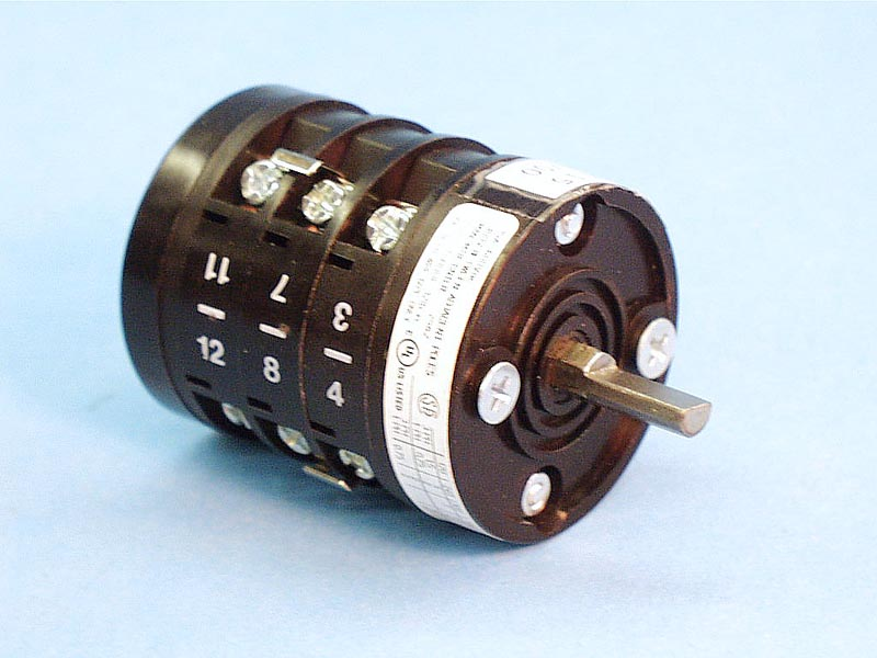 S212 - Rotary Switch,ENCON,4 Position,12 Terminals - S212