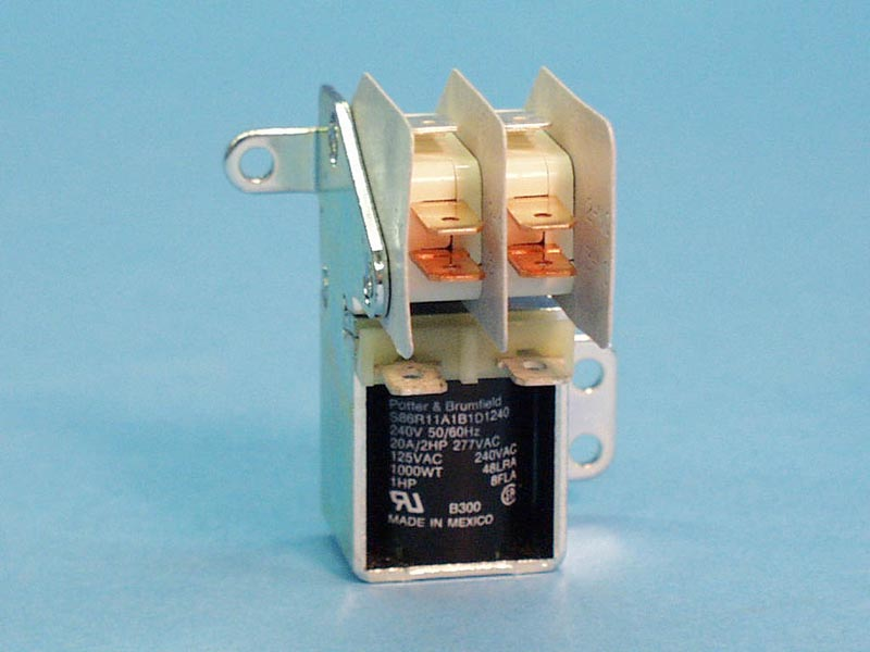 S86R11-240 - Relay,S86 Style,240Vac Coil,20Amp,DPDT - S86R11-240