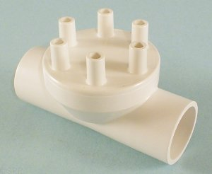 0341-10 - Manifold PVC,Air,MAGIC,1 Inch S x 1 Inch S x (6) 3/8 Inch SB Ports - 0341-10