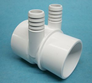 0362-20 - Manifold PVC,Water,MAGIC,2 Inch S x 2 Inch Spg x (2) 3/4 Inch RB Ports - 0362-20