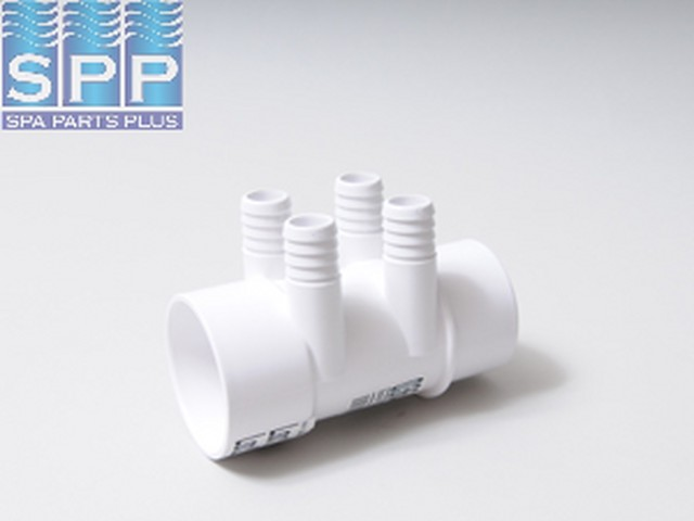 0364-20 - Manifold PVC,Water,MAGIC,2 Inch S x 2 Inch Spg x (4) 3/4 Inch RB Ports - 0364-20