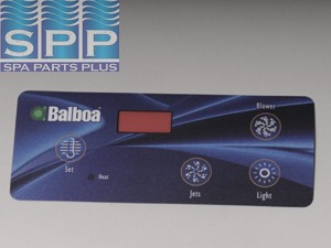 10307BAL - Spa Side Overlay,BALBOA,VL404,Duplex Dig,4BTN,LED(For 51223) - 10307BAL