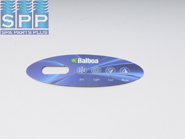 11852 - Spa Side Overlay,BALBOA(Icon10)VL200,Mini-Oval,4BTN,LCD - 11852