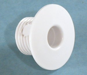 20214 - Wall Fitting,GGIND,Micro/Macro,1-1/2 Inch Face,1/2 Inch Orifice,White - 20214