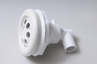 210-6670 - Jet Assy,WATERW,Power Storm,Massage,5 Inch Face,Smooth,White - 210-6670