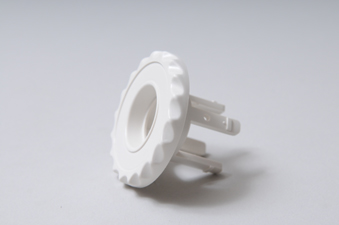 216-1040 - Jet Escutcheon,WATERW,Adj Mini Jet,Internal Carrier,White - 216-1040