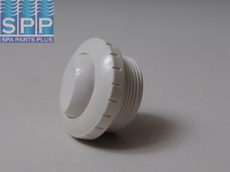400-1410A - Return,WATERW,Slotted Eyeball Fitting,1-1/2 Inch MPT,White - 400-1410A