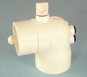 400-6040 - Thermowell,PVC,90 Deg Ell,WATERW,2 Inch S x 2 Inch Spg x Air Bleed - 400-6040