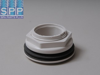 400-9170 - Return,WATERW,Wall Ftg Assy w/Nut&Gasket,1-1/2 Inch FPT Thru,Wht - 400-9170