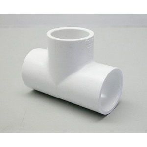 401-007 - Fittings PVC,Slip Tee,HUGHES,3/4 Inch S x 3/4 Inch S - 401-007