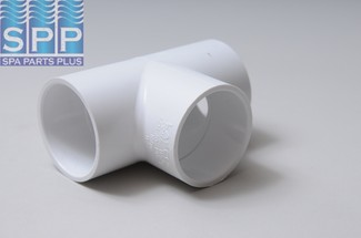 401-020 - Fittings PVC,Tee,HUGHES,2 Inch S x 2 Inch S - 401-020