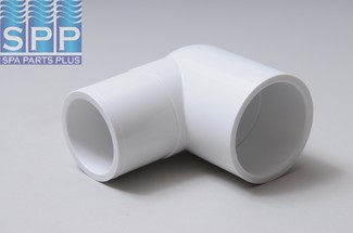 409-015 - Fittings PVC,90 Degree Street Ell,HUGHES,1-1/2 Inch S x 1-1/2 Inch Spg - 409-015