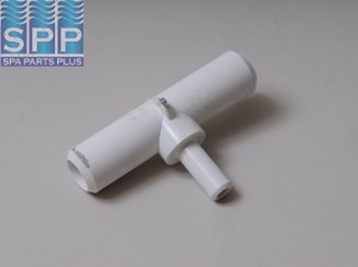 413-1850 - Fittings,PVC,Barbed Tee Adapter,WATERW,3/4 Inch SBx3/4 Inch SB3/8 Inch SB - 413-1850