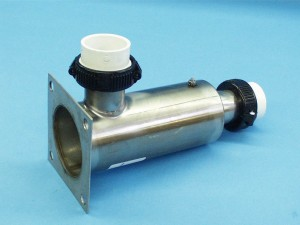 45-2000-R - Heater Manifold,90 Deg,SS,Deluxe,10 Inch Long,5 Inch x 5 Inch Sq Flange - 45-2000-R