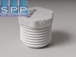 450-005 - Fittings PVC Plug,HUGHES,1/2 Inch MPT - 450-005