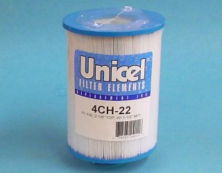 4CH-22 - Filter Cartridge,UNICEL,25 Sq Ft,4-15/16 Inch OD x 6-5/8 Inch Long - 4CH-22