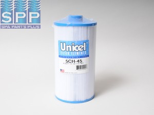 5CH-45 - Filter Cartridge,UNICEL,45 Sq Ft,5-5/16 Inch OD x 10 Inch Long - 5CH-45