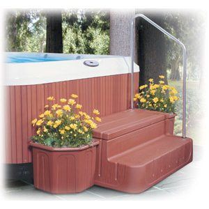 6130362 - Step-N-Stow Planter, Light Redwood - 6130362