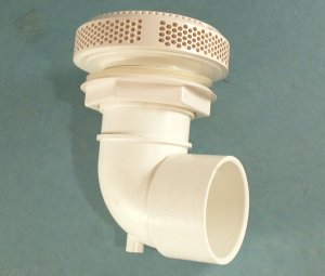 640-3610 - 2 1/2 Inch S 90 Degree Ell, White - 640-3610