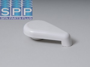 662-2070 - Air Control Handle,WATERW,Top Access Scallop,1 Inch ,Wht - 662-2070