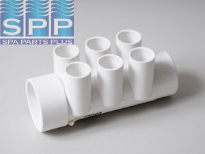 72060 - Manifold PVC,Water,G/GIND,1.5 Inch S x 1.5 Inch Spg x (6) 1/2 Inch S P - 72060