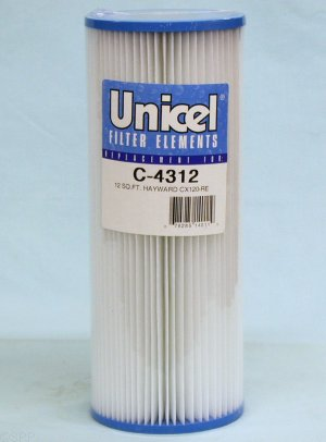 C-4312 - Filter Cartridge,UNICEL,12 Sq Ft,4-5/8 Inch OD x 11-7/8 Inch Long - C-4312