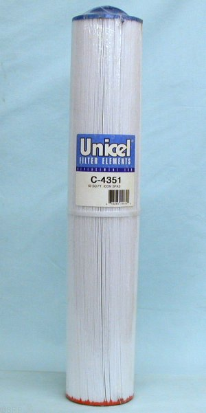 C-4351 - Filter Cartridge,UNICEL,50 Sq Ft,4-1/4 Inch OD x 23-3/4 Inch Long - C-4351
