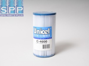 C-4600 - Filter Cartridge,UNICEL,8 Sq Ft,4-5/16 Inch OD x 8 Inch Long - C-4600