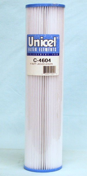 C-4604 - Filter Cartridge,UNICEL,15 Sq Ft,4-1/4 Inch OD x 17-7/8 Inch Long - C-4604