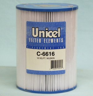 C-6616 - Filter Cartridge,UNICEL,16 Sq Ft,6-1/4 Inch OD x 8 Inch Long - C-6616