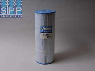 C-7491 - Filter Cartridge,UNICEL,75 Sq Ft,7 Inch OD x 18-7/16 Inch Long - C-7491