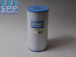 C-7632 - Filter Cartridge,UNICEL,33 Sq Ft,7 Inch OD x 14 Inch Long - C-7632 - Height: 14 - Diameter: 7 - TopID: 2-1/16 - BottomID: 2-1/16